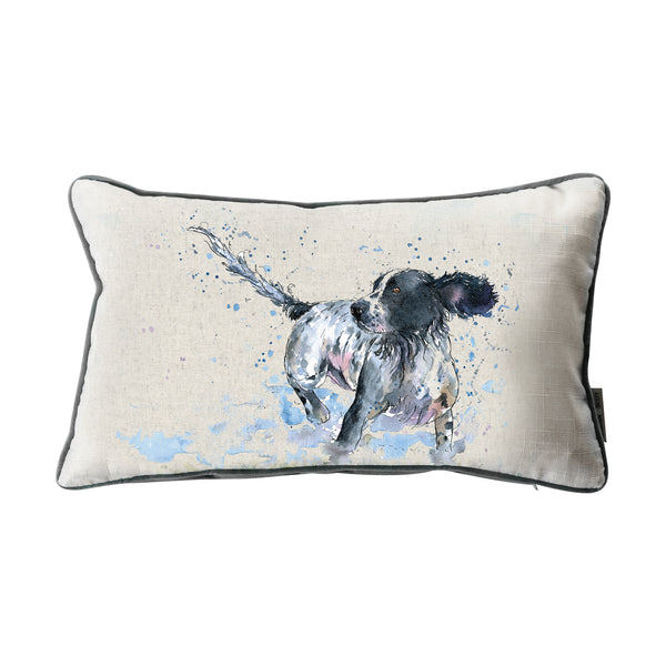 WATERCOLOUR SPANIEL CUSHION