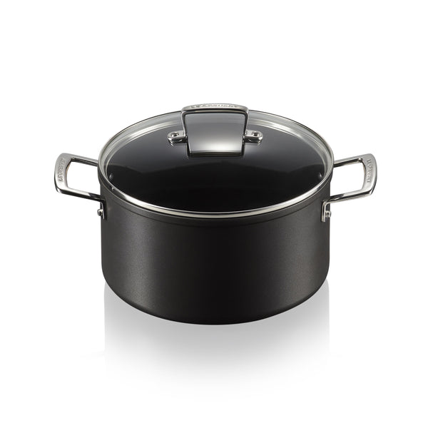 TOUGHENED NON STICK DEEP CASSEROLE 24CM