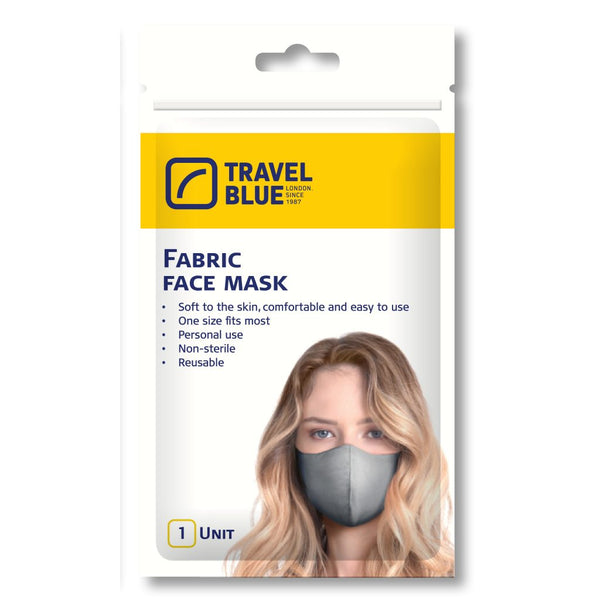 Travel Blue Fabric Face Mask