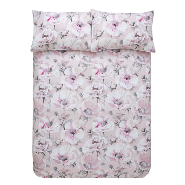 Arctic Poppy Cotton Duvet Cover Set