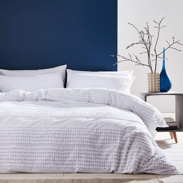 MALMO COTTON TUFTED BANDS DUVET SET