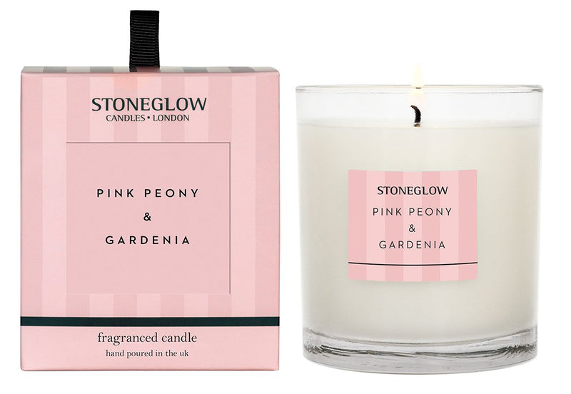 Stoneglow Modern Classice Pink Peony Candle
