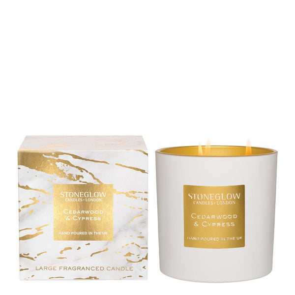 CEDARWOOD & CYPRESS LUNA 3 WICK CANDLE