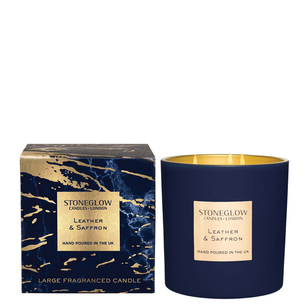 LEATHER & SAFFRON LUNA 3 WICK CANDLE