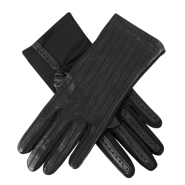 Leather and Elastane Gloves