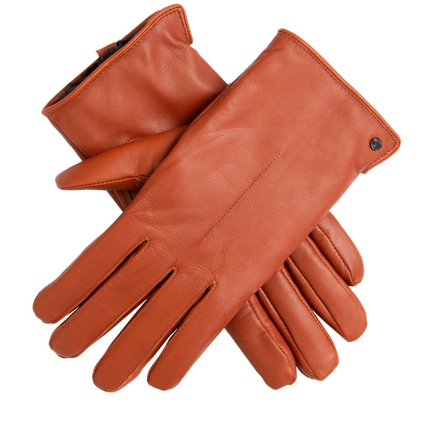 Faux Fur Lined Leather Gloves