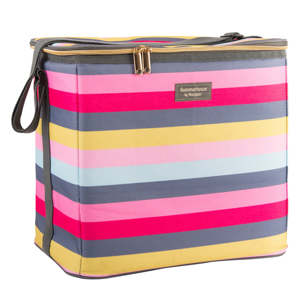 Navigate Gardenia Stripe Family Cool Bag 20L