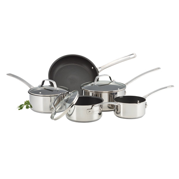 GENESIS 5 PIECE STAINLESS STEEL COOKWARE SET