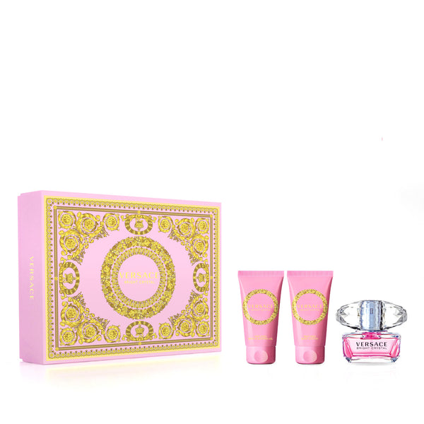 Versace Bright Crystal Eau De Toilette Set 50ml