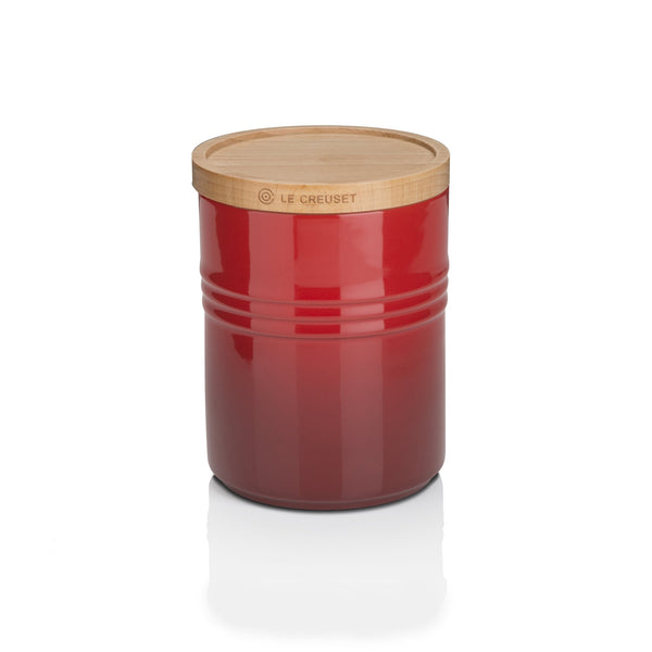 Le Creuset Storage Jar With Wooden Lid Medium