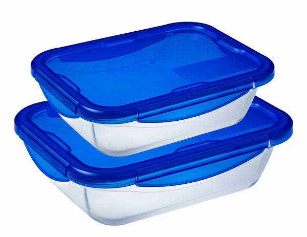 PYREX COOK & GO RECTANGULAR STORAGE SET