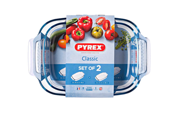 PYREX CLASSIC 2 PIECE MEDIUM ROASTER SET