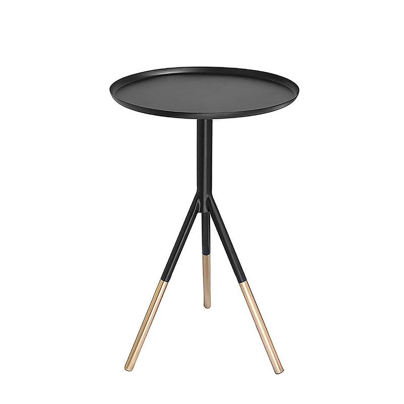 Bombay Duck Matt Black Tripod Table With Brass Feet