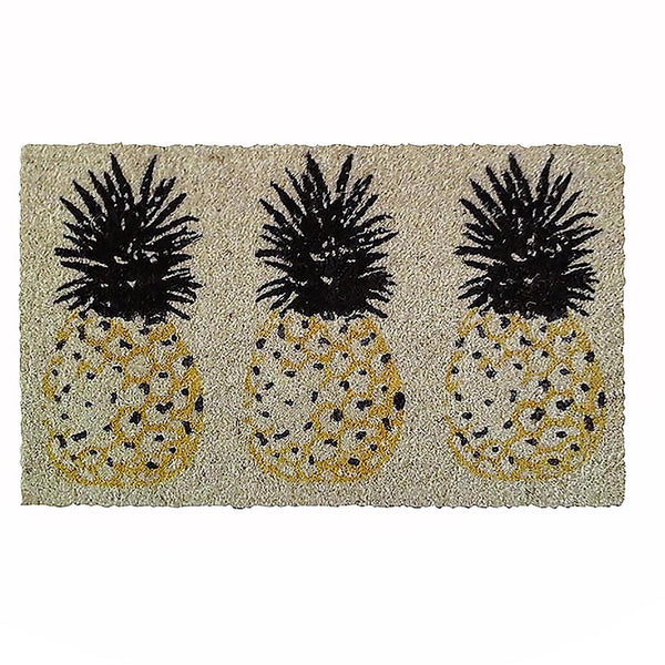 THREE PINEAPPLES DOOR MAT