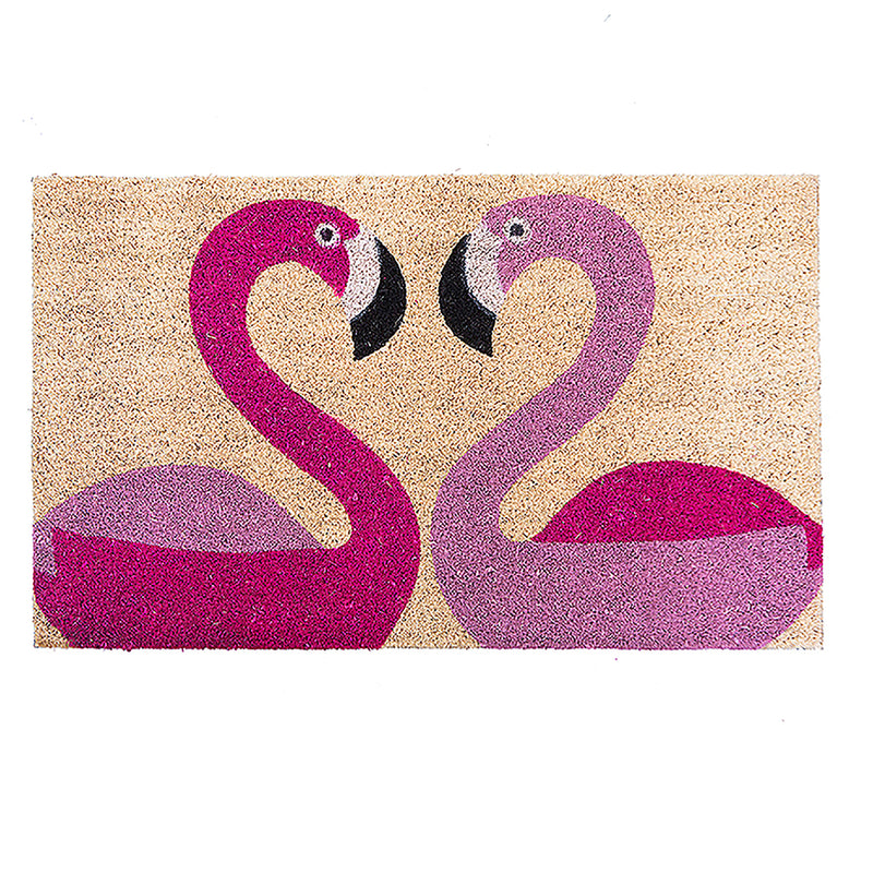 FLAMINGOES DOOR MAT