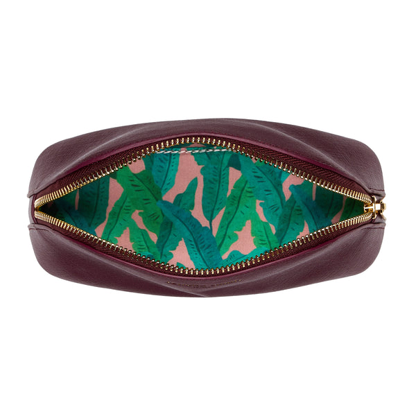Fenella Smith Burgundy Oyster Cosmtic Case
