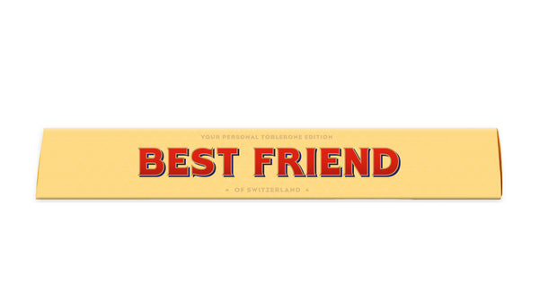 BEST FRIEND PERSONALISED TOBLERONE BAR 100G