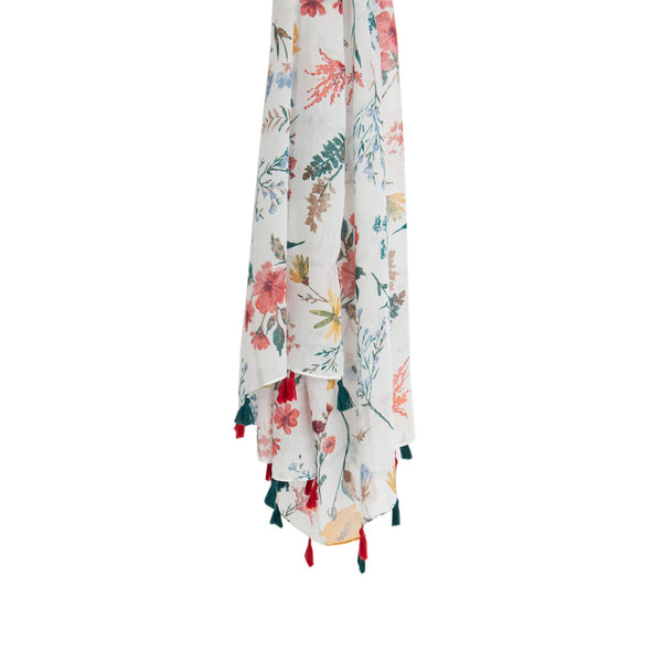 Multicoloured Blossom Scarf