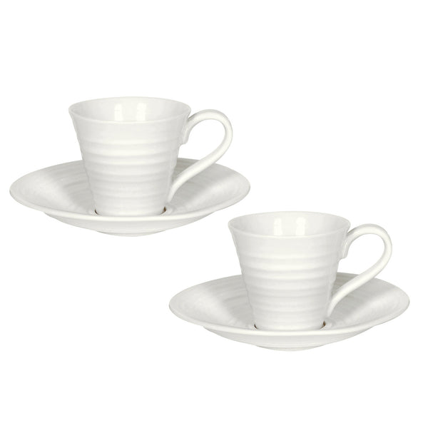ESPRESSO CUP AND SAUCER SET OF 2