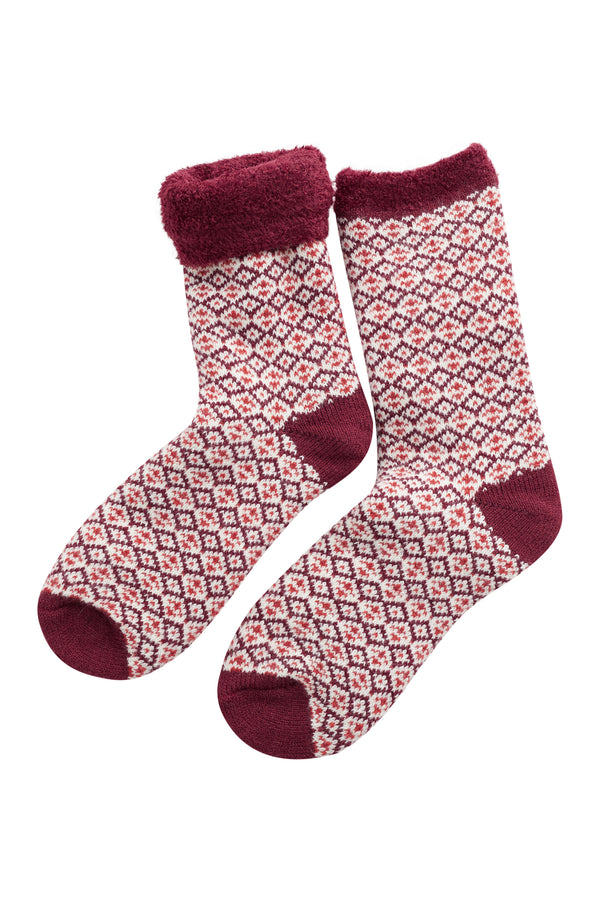 SCANDI RICH RED CABIN SOCKS