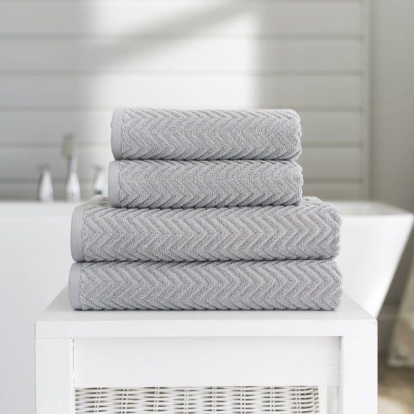 CASABLANCA CHEVRON TOWELS