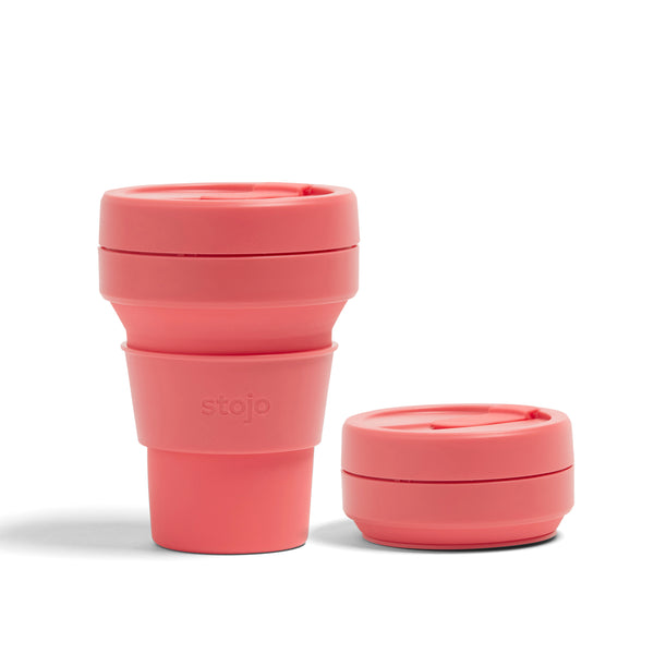 COLLAPSIBLE CORAL POCKET CUP 355ML