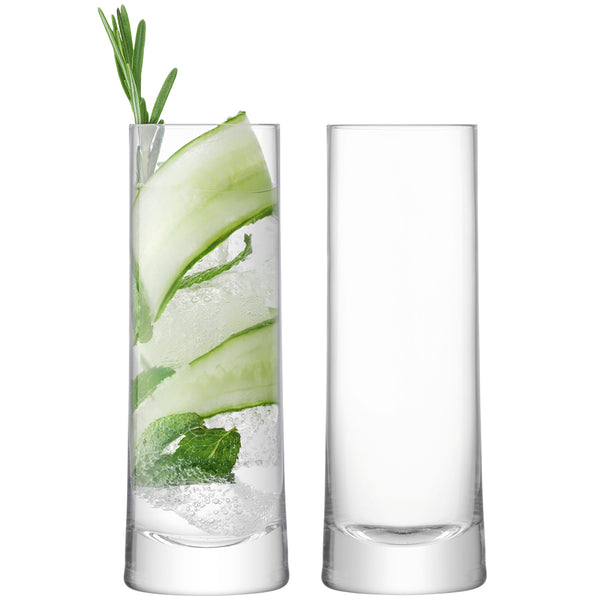 GIN - 2 HIGHBALL GLASSES