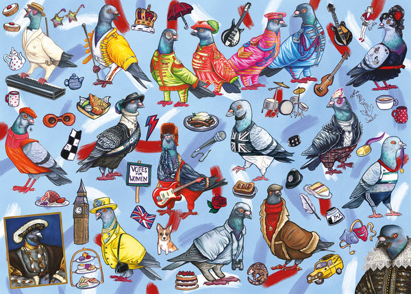 Gibsons 1000 Piece Pigeons Of Britain