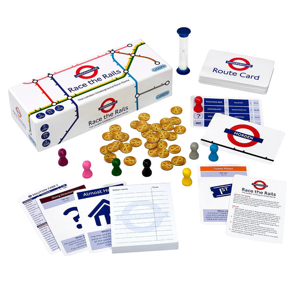 Gibsons Race The Rails Transport For London Card Game
