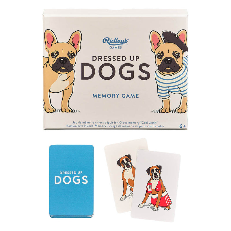 DRESSED UP DOGS MEMORY GAME