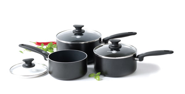 Cambridge Ceramic Non-Stick 3-piece Saucepan Set