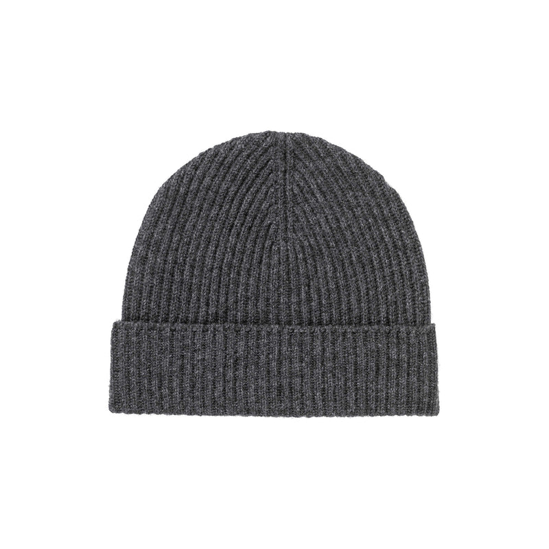 RIBBED 100% CASHMERE HAT