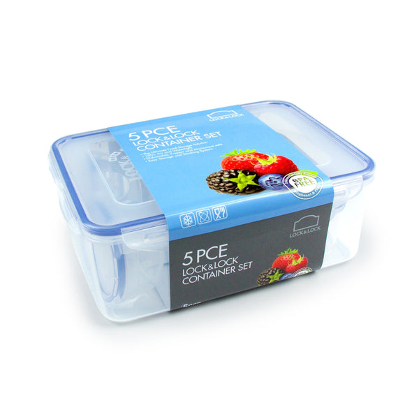 Lock & Lock 5 Piece Assorted Container Set