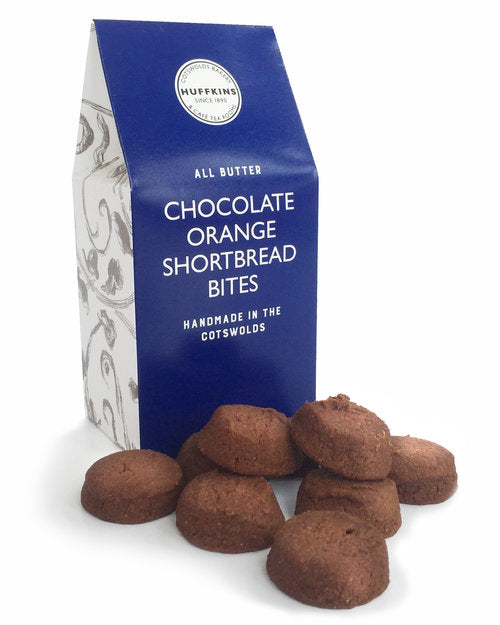 CHOCOLATE ORANGE SHORTBREAD BITES 100G