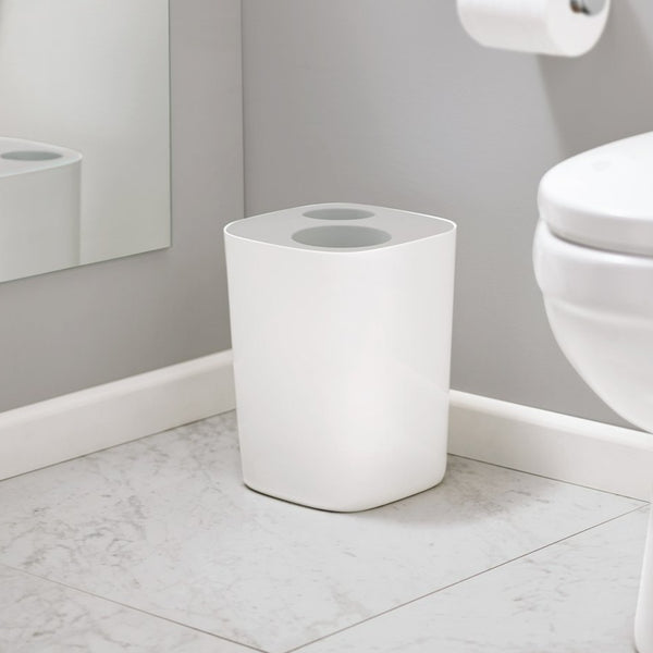 SPLIT BATHROOM WASTE BIN