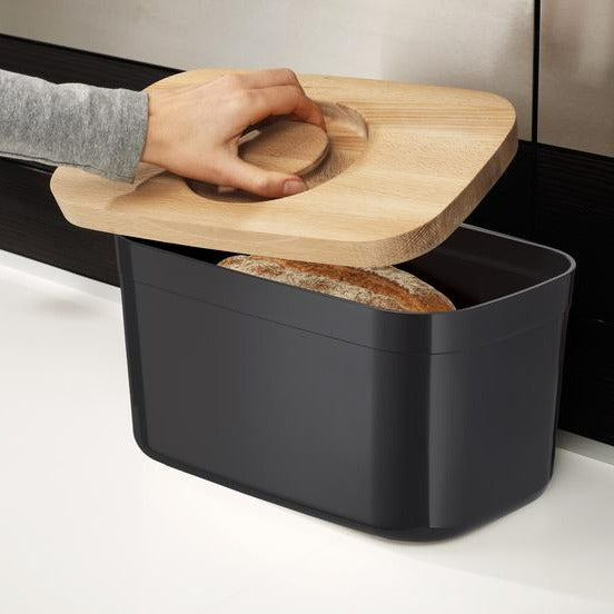 BREAD BIN WITH CUTTING BOARD LID