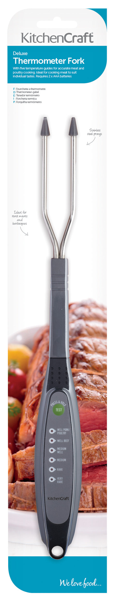 Kitchencraft Digital Thermometer Fork