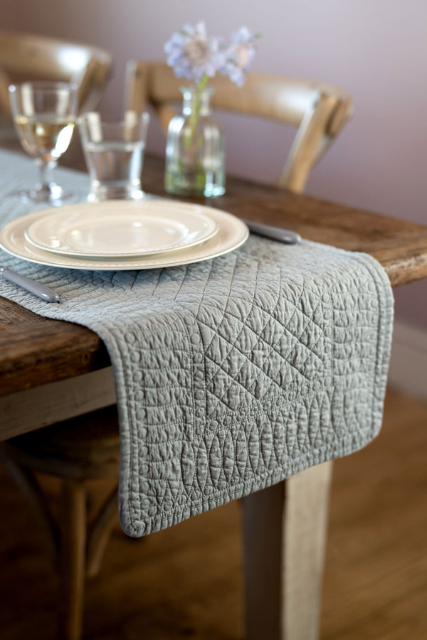 Mary Berry Signature Grey Cotton Table Runner