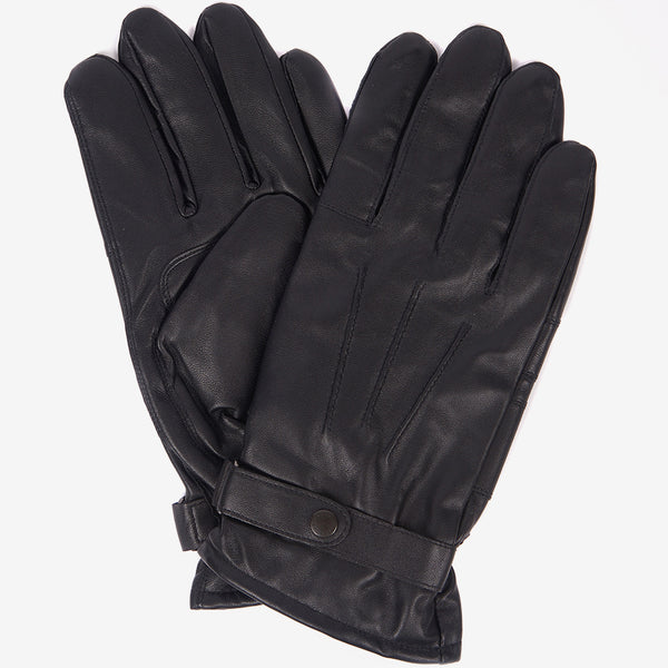 BURNISHED BLACK LEATHER GLOVES