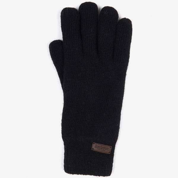 CARLTON WOOL BLEND BLACK GLOVES