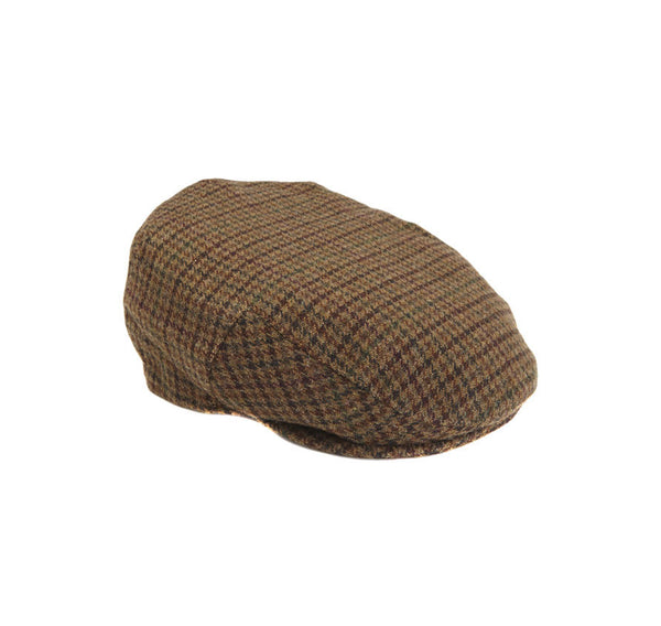 BROWN CRIEFF WOOL TWEED CAP