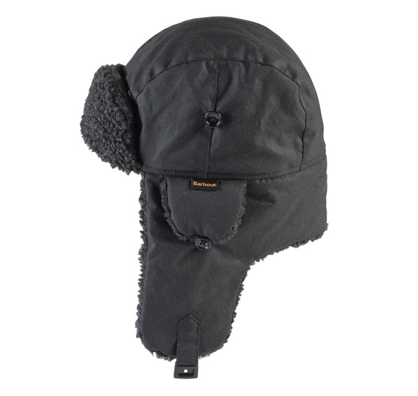 FLEECE LINED TRAPPER BLACK HAT