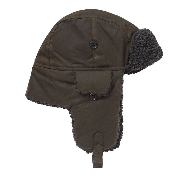 FLEECE LINED TRAPPER OLIVE HAT