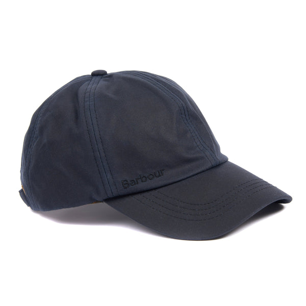 NAVY PRESTBURY WAX SPORTS CAP