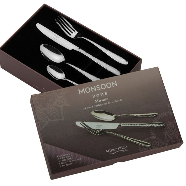 MONSOON MIRAGE 24 PIECE CUTLERY SET