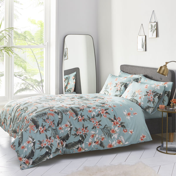 DELRAY PALM DUVET COVER SET