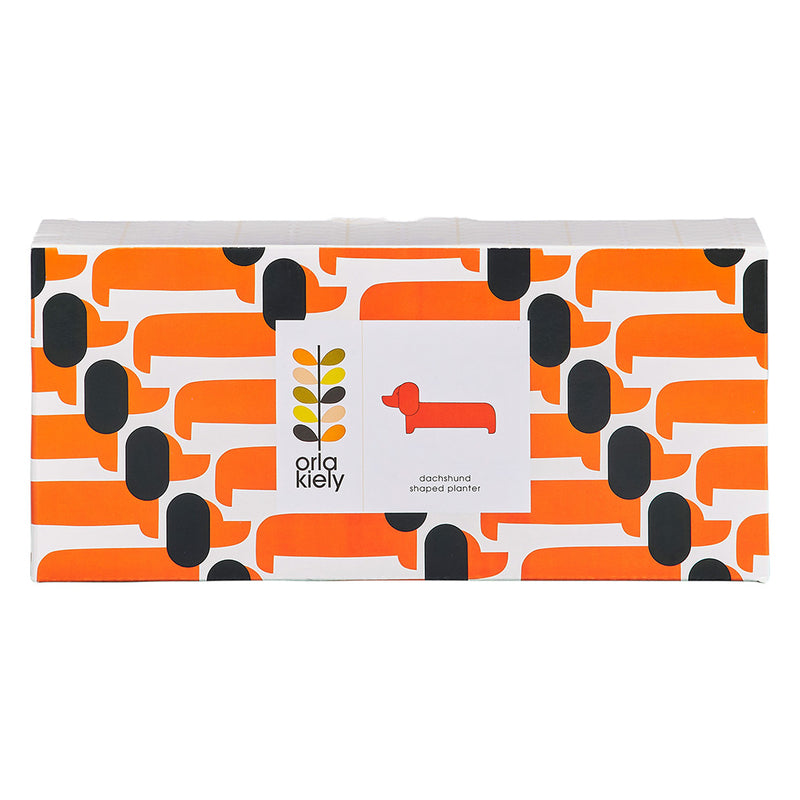 Orla Kiely Dachshund Shaped Planter
