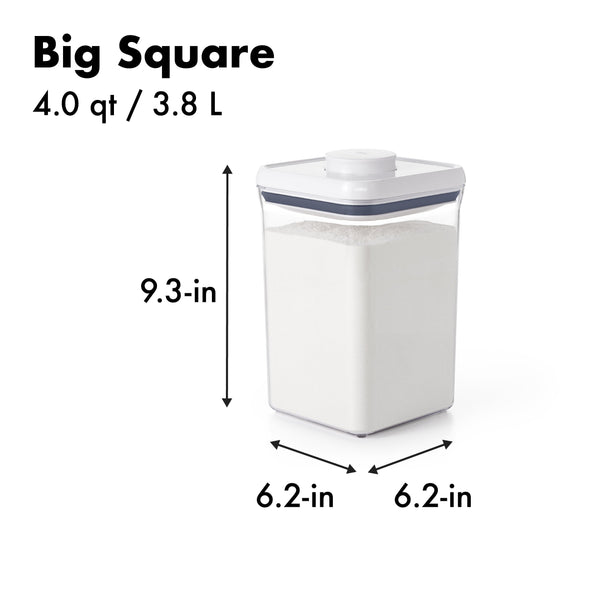 SQUARE CONTAINER LARGE 3.8L