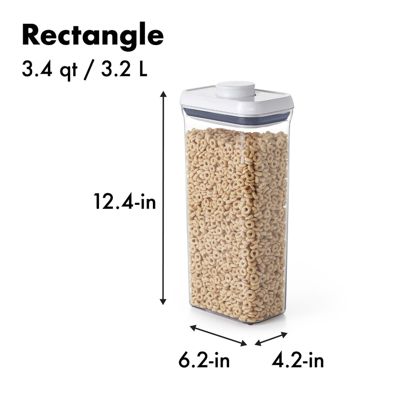 RECTANGULAR CONTAINER TALL 3.2L