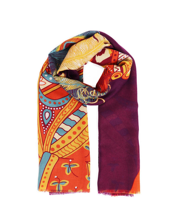 Powder Maharaja Tiger Print Scarf